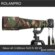 ROLANPRO Lens Camouflage Rain Cover Nikon AF-S 600mm F/4E FL ED VR Guns Clothing