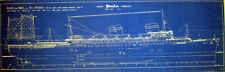 Vintage Passenger Ship SS America 1939 Print Blueprint Plans 2 pages (092)