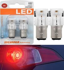 Sylvania Premium LED Light 1157 Red Two Bulbs Front Turn Signal Replace Show JDM