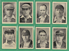 AMALGAMATED PRESS LTD.- RARE SET OF 32 FAMOUS TEST MATCH CRICKETERS CARDS - 1926