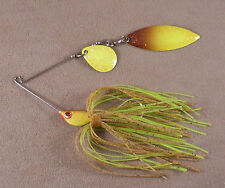 Bass Fishing Lure Custom Spinnerbait, 1/4 oz, 1 Colorado & 1 Willowleaf Blade