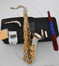 Professional silver nickel C Melody sax saxophone high F# with new case + 2 neck