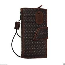 genuine leather case for apple iphone SE 5s 5c book wallet cover strap brown new
