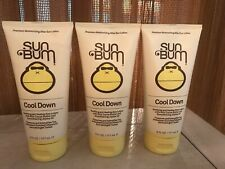 Lot of 3 Sun Bum 'Cool Down' Hydrating After Sun Lotion 6 oz Aloe Cocoa Butter