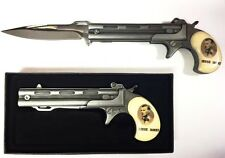 "Jesse James Gun Style Assist Open Knife & Gift Box 5"" Handle 3.5"" Blade PT3085JJ"