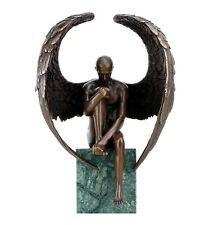 Angel Nude Figurine - Contemporary Bronze Male Nude - Angel Sculpture - Statue