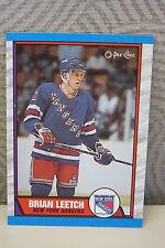 BRIAN LEETCH 1989 - 1990 OPC NEW YORK RANGERS #136 ROOKIE  Card - MINT!