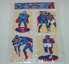 "SUPERMAN vs Muhammad Ali SET 4 METAL CARDS PUZZLE COLLECTIBLES SEALED SET ""A"""
