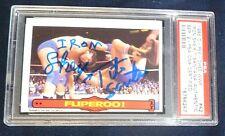 Iron Sheik & Tito Santana Signed 1985 OPC WWF Card PSA/DNA O-Pee-Chee Topps WWE