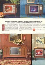 "1966 RCA Victor ""The Shenandoah""  Color TV Television  PRINT AD"