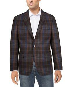 Lauren Ralph Lauren Lexington Men's 100% Wool Classic Fit Plaid Blazer Brn-48R