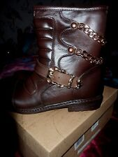 bnwb faux leather biker boots sz 5/38
