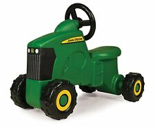John Deere Riding Toy Tractor Sit-N-Scoot Green Plastic Black Wheels Toddlers