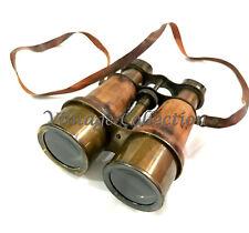 "Antique Nautical Brass Leather Binocular 6"" Maritime Pirate Spyglass Binocular"