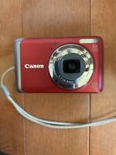 Red Canon PowerShot A3100 IS 12.1 MP Digital Camera for parts or repair