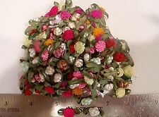 Knotted Roses and Carnation Flowers 2 different flower assorted colors 100+  #41