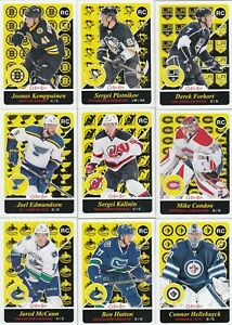 2015-16 O PEE CHEE UPDATE ROOKIES lot of 9 ROOKIES UPDATE connor hellebuyck   a