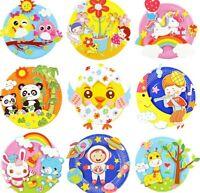 Kinder Bastelset Kreativ Teller für Kinder 5 Stück Aufkleber  Mosaik