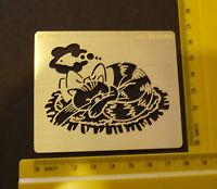Brass/stencil/Oblong/Cat /Fish/Embossing/emboss/NEW
