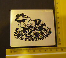 Brass/stencil/Oblong/Cat /Fish/Embossing/emboss/NEW