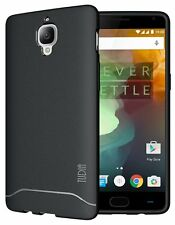 TUDIA ultra delgada Mate de arco piel cubierta caso de TPU para OnePlus 3/3T-Negro