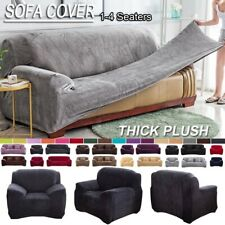 1/2/3/4 Seater Plush Stretch Sofa Couch Cover slipcover Plush Thicken Universal