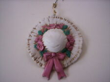 Vintage Keepsake ornaments/Mothers day Ceramic hat ornament/Porcelain ornament
