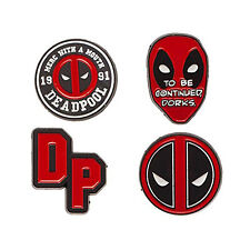 Marvel Deadpool Lapel Pin 4 Piece Set NEW IN STOCK