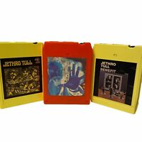 Lot of 3 Jethro Tull Benefit Stand Up War Child 8 Track Tested & Works