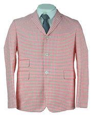 Brooks Brothers Black Fleece Mens Red Gingham Plaid Jacket Blazer Sz BB0 0642-2