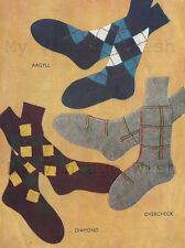Men's Sock Vintage Knitting Pattern  Copy