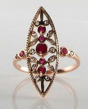 Ruby Rose Gold Victorian Fine Jewellery