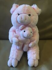 """Pink PIG MOM & BABY by Variety Wholesalers 14"""" Farm Animals"""