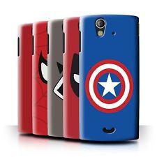 STUFF4 Back Case/Cover/Skin for Sony Xperia Ray/ST18i/Super Hero Comic Art