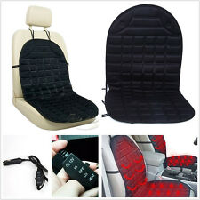 12V Winter Electric Heated Car SUV Front Seat Cushion Warmer Cover Pad Mat Black
