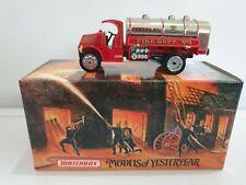 Matchbox Fire Engine Series YFE11 - 1923 MACK AC Water Tanker Collector Model