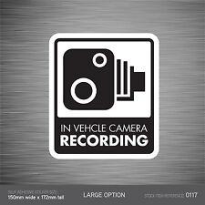 SKU117 - In Vehicle Camera Recording Car Sign Sticker - CCTV - Go Pro - Dashcam