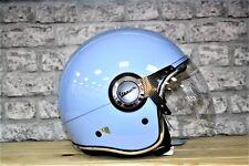 Vespa VJ Light Blu Motorcycle Helmet