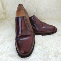 Samuel Windsor Hand Made Men's Brown Leather Slip On Shoes Size UK 7 EU 41