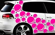 85 Retro Kreise Dots Sterne Auto Aufkleber Sticker Stylin Wandtattoo Blasen ste