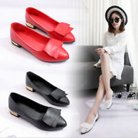 Women Lady Boat Shoes Soft Casual Ballet Slip On Flats Wedding Dress Single Shoe