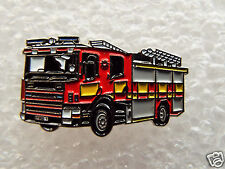 Red Fire Engine enamel pin / lapel badge Emergency Services