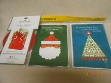 New lot 6 Hallmark Mahogany Christmas cards & Spiral Tissue bag filler decorate