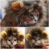 Lion Mane For Pets Cat Dog Hat Costume Clothes Wig For Dress Up Suit With Ears