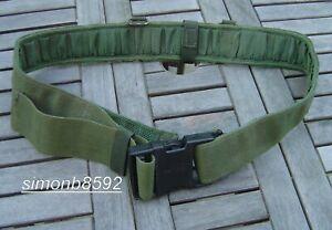BRITISH ARMY SURPLUS ISSUE 60mm OLIVE GREEN PLCE WEBBING BELT GRADE 1,ITW NEXUS