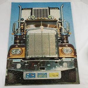 VTG Springbok 18 Wheeler Jigsaw Puzzle 500 PC Semi Truck Trucker Complete