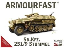 Armourfast 99032 1/72 WWII German Half-Track Sd.Kfz. 251/9 Stummel (2 Models)