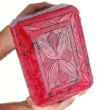 41035 Cts Certified Natural Ruby Finest Red Huge Museum Gemstone -Moghul Carving