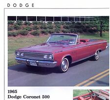 1965 Dodge Coronet 500 Convertible info specs prices production numbers