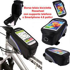Borsa Telaio bicicletta Roswheel con Supporto Telefono x Smartphone 4.8 pollici